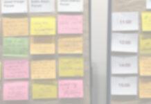 Ein etwas verschwommen dargestellter, analoger Sessionplan aus dem letzten Jahr.